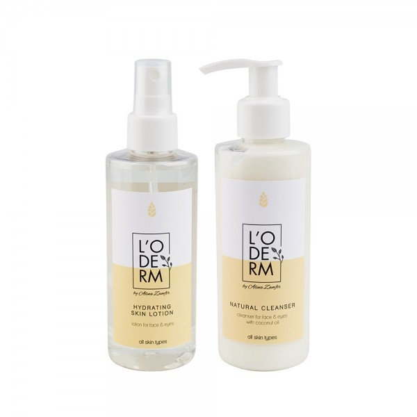 Set pentru demachiere - ten normal, L'ODERM, 200 ml + 200 ml
